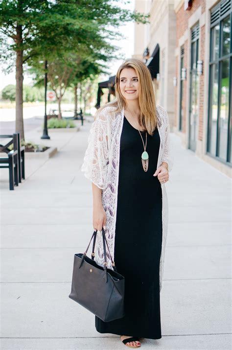 Maxi Dress Kimono Outfit   By Lauren M