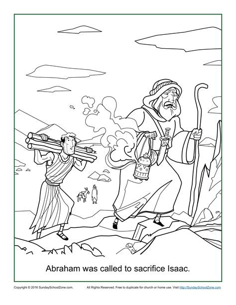 abraham  called  sacrifice isaac coloring page childrens bible activities sunday