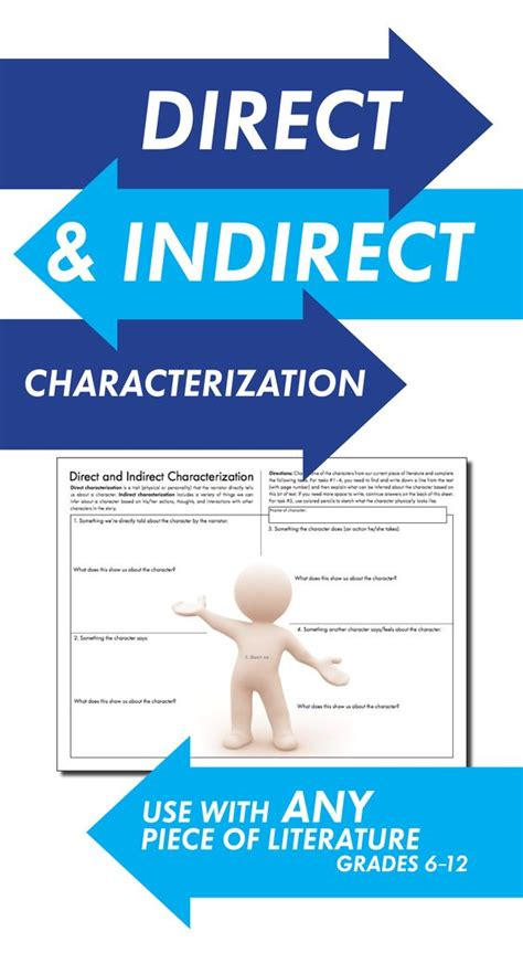Direct & Indirect Characterization, Fun Printandteach Handout, Use Wany Lit  Texts, Focus On