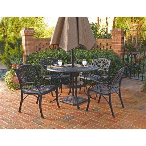 home styles biscayne black 5 patio dining set 5554