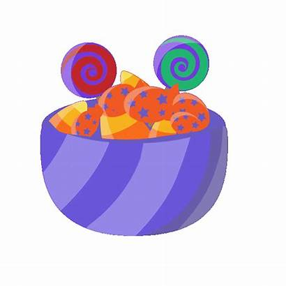 Candy Clipart Halloween Bowls Bowl Gifs Sweets