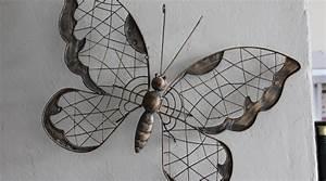 Decoration Murale Fer : papillon deco exterieur jardin de maison decoration ~ Melissatoandfro.com Idées de Décoration