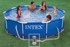 Piscine Intex Hors Sol : intex metal frame pool 12x30 10789 buy freestanding pools ~ Dailycaller-alerts.com Idées de Décoration