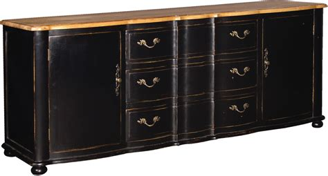 Black Sideboards by Large Black Sideboard Distressed With Wood Top