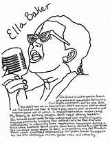 Coloring Pages History Ella Baker Maya Angelou Bridges Ruby Month Drawing Civil Rights Getcolorings Colorings Printable Sheets Nappy Getdrawings Sketch sketch template