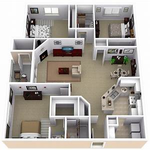 best 25 apartment floor plans ideas on pinterest With three bedroom apartment planning idea