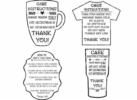Download this free picture about washing care instruction from pixabay's vast library of public domain images and videos. Care Instructions Digital File | T shirt Care Instructions ...