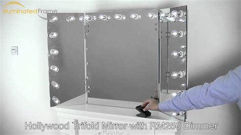 hollywood trifold mirror  illuminated frame  youtube