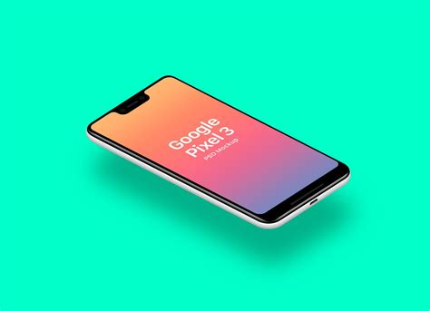 Available in frontal, perspective and isometric angles and different materials like realistic and simplistic. Free Floating Google Pixel 3 Sketch Mockup (With images ...