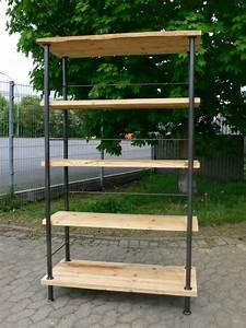 Bücherregal Metall Holz : regal industrie design eisen holz b cherregal industrial k chenregal ebay ~ Sanjose-hotels-ca.com Haus und Dekorationen