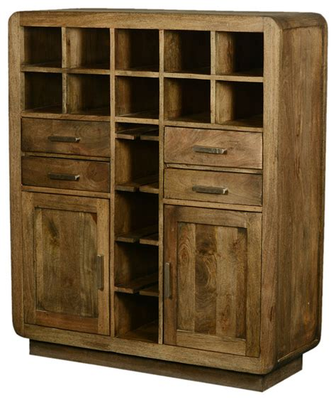 solid wood bar cabinet shop houzz sierra living concepts modern rustic solid