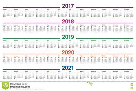 simple calendar template stock vector illustration