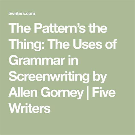 patterns      grammar