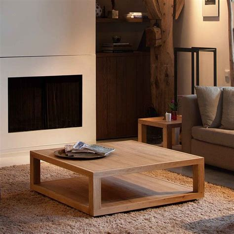 Coffee Side Tables Living Room Furniture by Furniture Furniture Rustic Square Brown Wooden