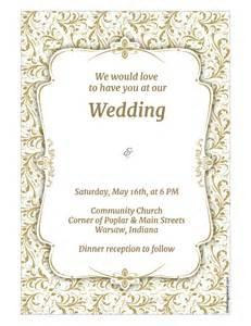 wedding invitations templates wedding invitation template wikidownload