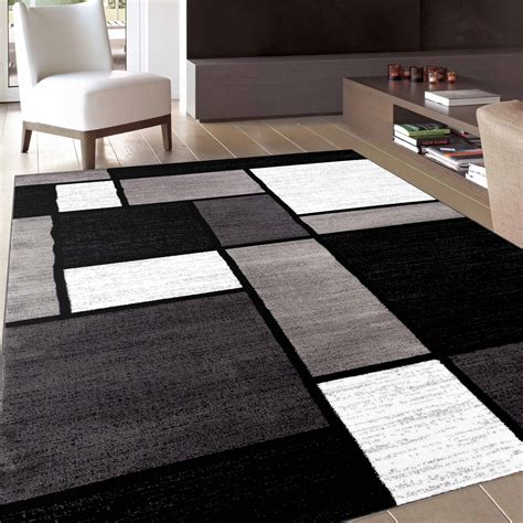 Black And Gray Living Room Carpet by Rugs Curtains Modern Black And White Area Rugs For