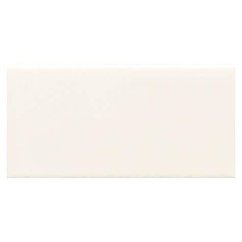 daltile semi gloss white 2 in x 6 in glazed ceramic