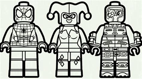 Lego Spiderman Coloring Pages Bltidm And Joker Flash Book