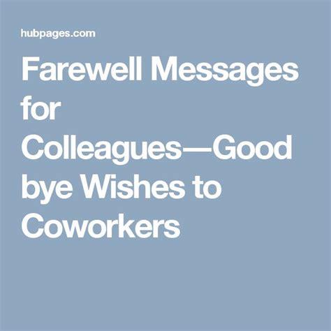 farewell message ideas  pinterest
