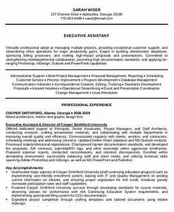 10 administrative assistant resume templates pdf doc With executive administrative assistant resume