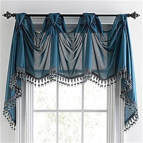 chris madden 174 mystique victory valance jcpenney sewing beautiful turquoise