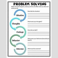 Problem Solving Worksheet From Kids Understanding Divorce Or Separation Small Group Curriculum