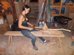 plans  build  rustic bench  logs guide patterns
