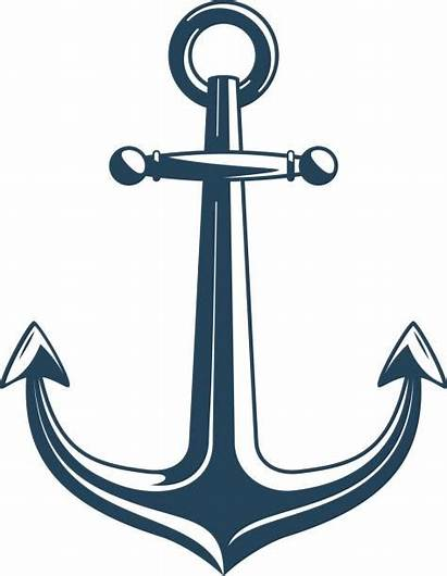Anchor Vector Nautical Clip Illustrations Wooden Background