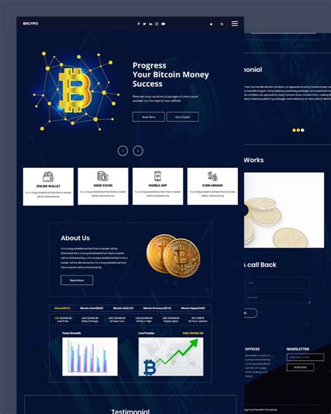 It comes with a responsive design, and the visual page. Bitcypo - Free Bitcoin HTML Template