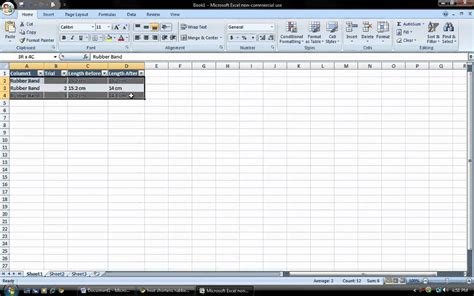 how to make a table in excel 2007