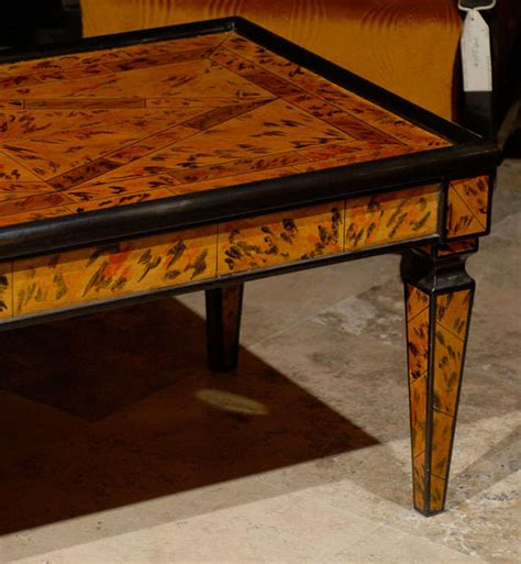 hand painted coffee table hand painted coffee table for sale at 1stdibs