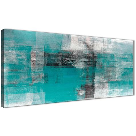 Black And White Abstract Uk by Teal Black White Painting Living Room Canvas Wall