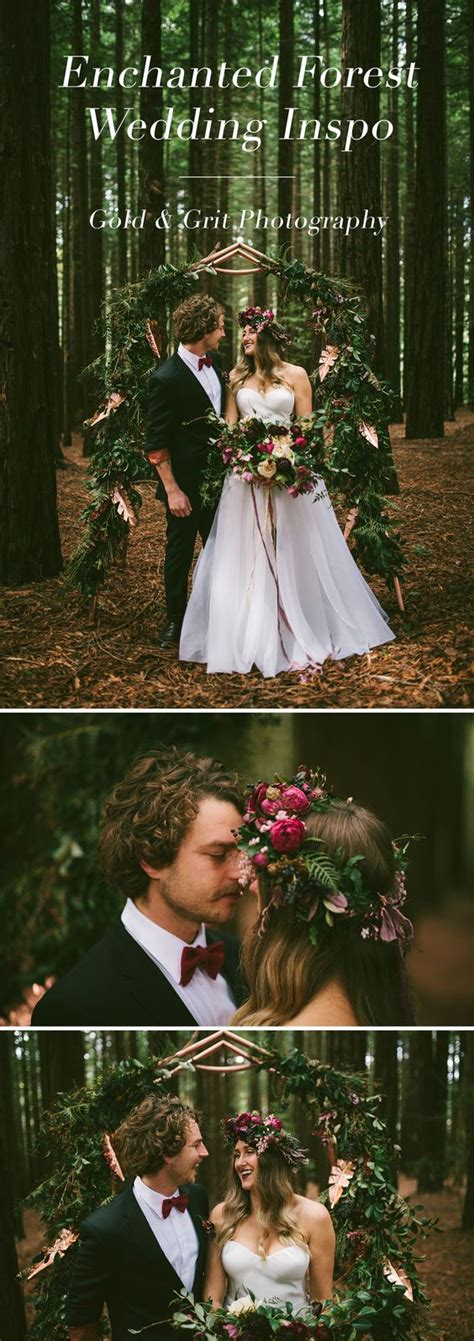 Redwood Forest Bohemian Wedding Inspiration With Floral