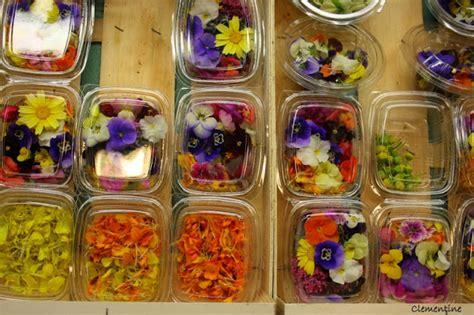 cuisine salade le de clementine salade aux fleurs comestibles