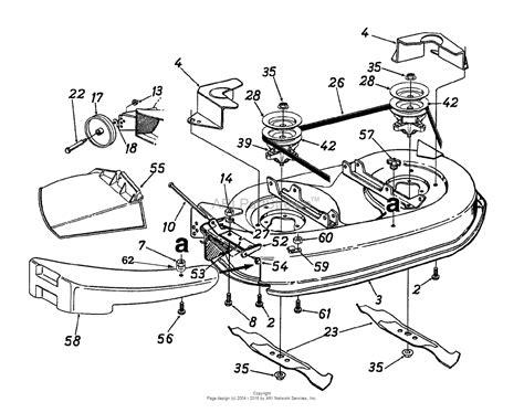 mtd ahf  parts diagram  deck assembly