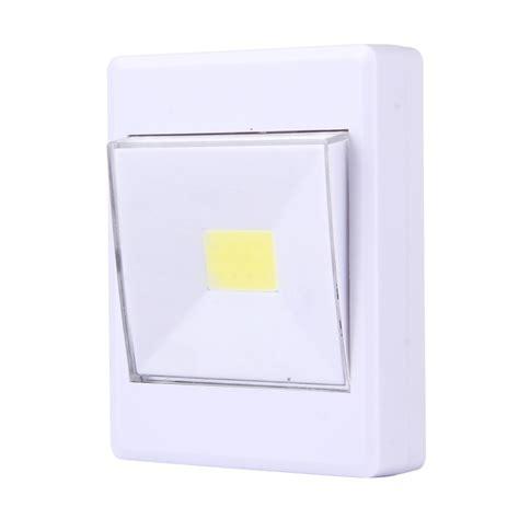 2 pcs mini white light cob led switch wall light night