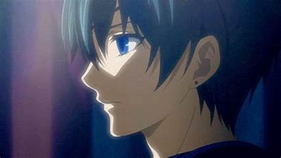 Ciel Butler Anime Phantomhive Side Boy Sad