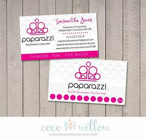 Paparazzi business card printable by coco by cocowillowdesign for Order paparazzi business cards