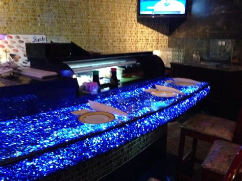 rice bowl sushi bar chico ca recycled glass counters by