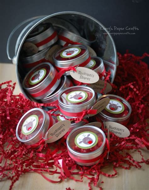 reindeer noses christmas party favors reindeer noses tins and reindeer on