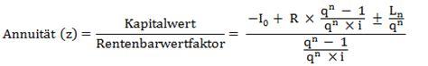 annuitaet berechnen formel erklaerung investitionsrechnung