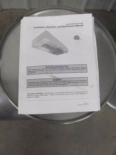 CaptiveAire Model 5424ND 2 Commercial Kitchen Exhaust Hood