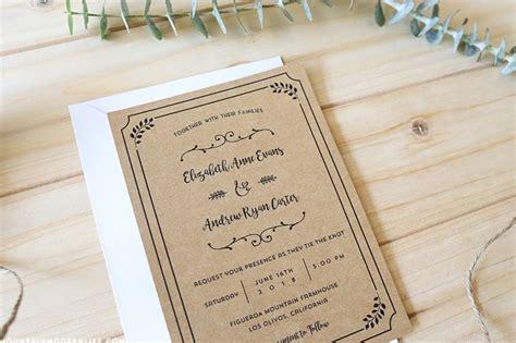 Printable DIY Wedding Invitation Template