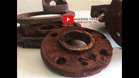 rust electrolysis removal diy step