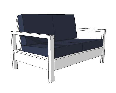 loveseat plans diy outdoor wood loveseat diy step by step