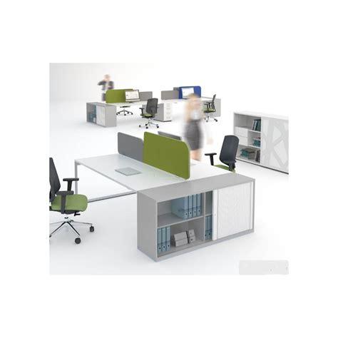 bureaux avec rangement bureau bench ogi q avec meuble de rangement mdd bureaux