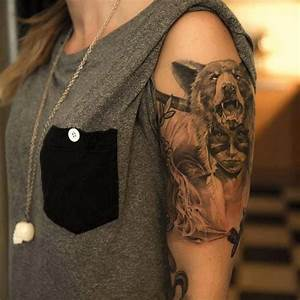 Tribal girl Native American tattoo