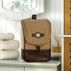 personalized mens canvas leather toiletry travel kit