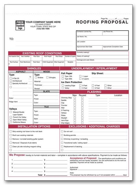 printable roofing estimate sheet roofing forms roofing