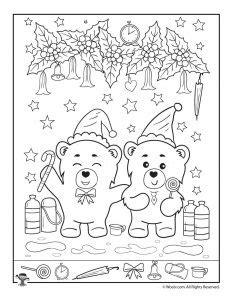 christmas hidden pictures printables for kids woo jr